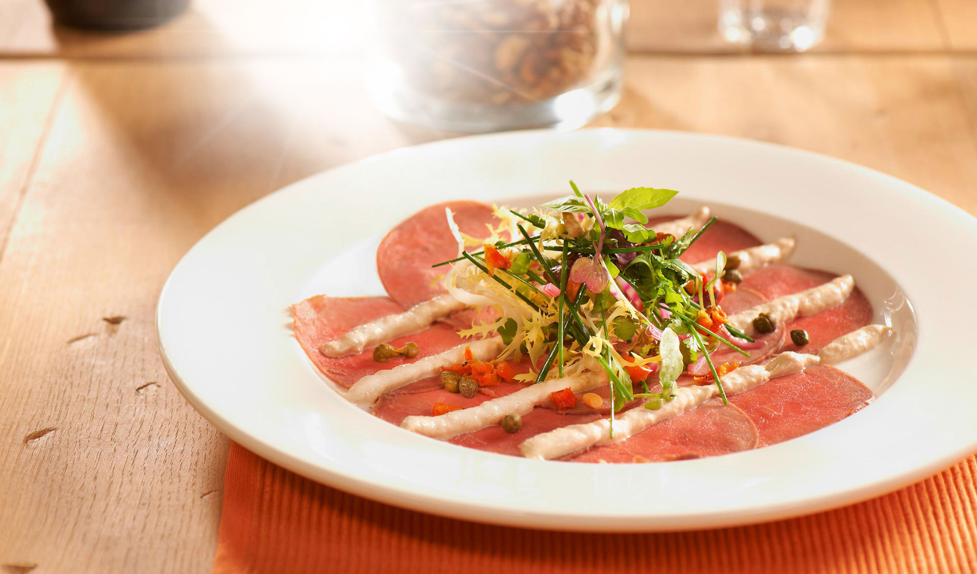 Carpaccio Vitello Tonnato - Fortuna Carpaccio