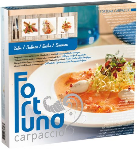 Verpakking - Carpaccio Zalm - Fortuna Carpaccio