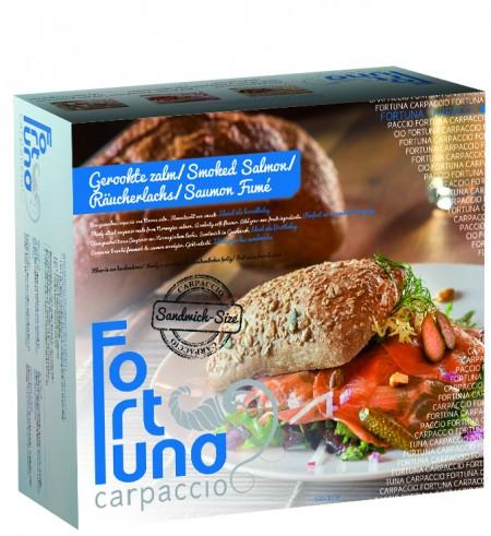 Verpakking - Gerookte Zalm Sandwich Carpaccio - Fortuna Carpaccio