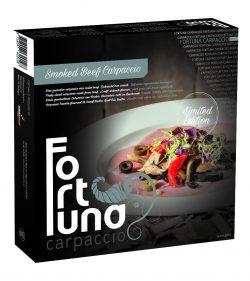 Verpakking Smoked Beef Carpaccio - Fortuna Carpaccio