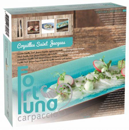 Verpakking coquilles carpaccio - Fortuna Carpaccio