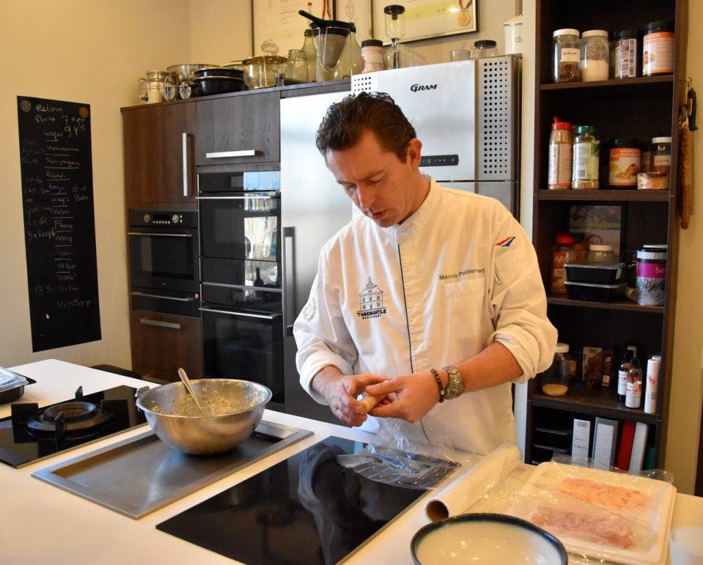 Marco Poldervaart keuken carpaccio