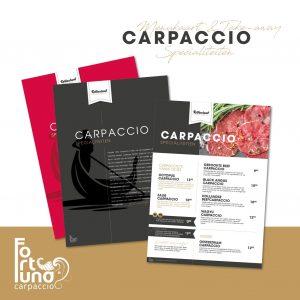 Carpaccio keuze kaart